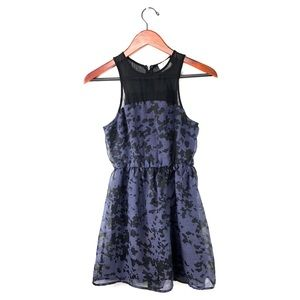 Anthropologie pins & needles dress mesh pleated S